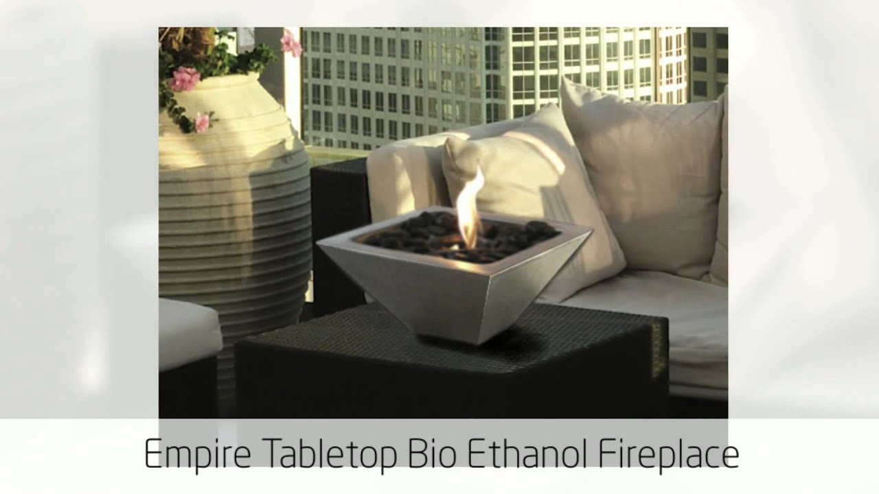 Tabletop Biofuel Fireplace 2 From Ethanol Fireplace Pros Youtube