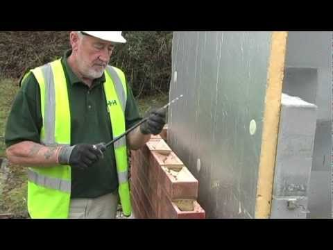 Installation of Partial Fill Insulation to External Wall - H+H UK
