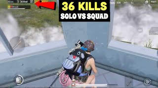 MY BEST MATCH IN SEASON 8 | PUBG MOBILE | SOLO VS SQUAD 36 KILLS!