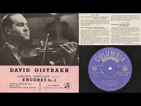 Tchaikovsky: Valse Scherzo (Oistrakh, violin; Yampolsky, piano)
