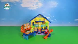 Joc de construit Peppa Pig la şcoală cu tabla înmu