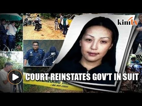 Appellate court reinstates gov't in suit by Altantuya's family
