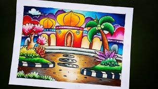 20 Cara Mewarna Masjid Terbaik Lingkar Png