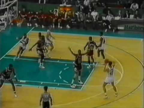 Bulls @  Hornets 1988-89: Michael Jordan 33 points, 6 steals.