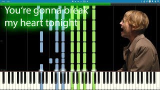 Tom Odell - You're gonna break my heart tonight PIANO TUTORIAL|#SHEET Download