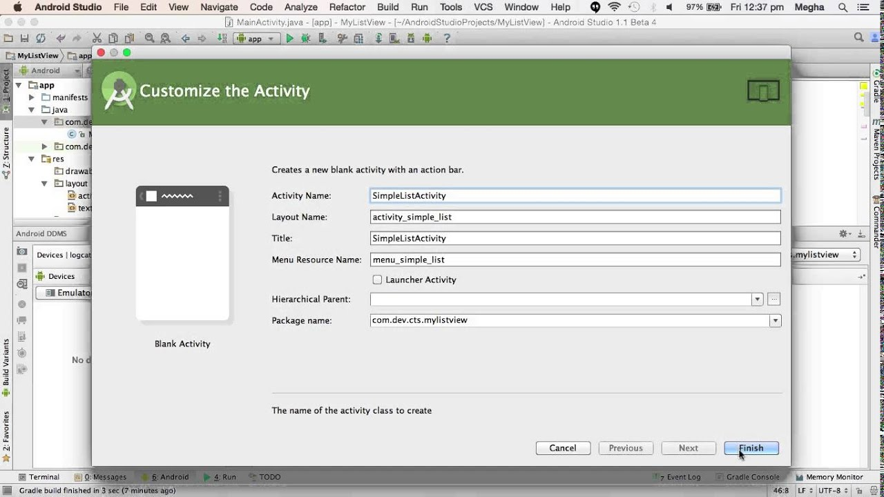 Android custom simple adapter tutorial with example in android studio.