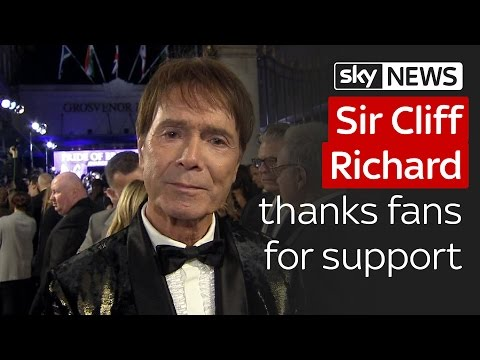 Sir Cliff Richard thanks fans for support after dropped investigation