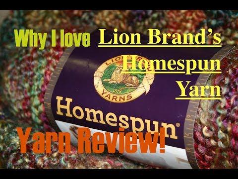 Amanda's Favorite Yarns: Lion Brand Homespun Yarn Review + Project Inspiration