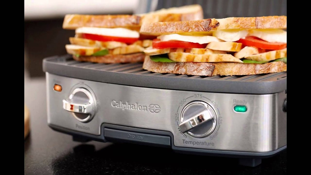 Calphalon 5 In 1 Removable Plate Grill Free Shipping