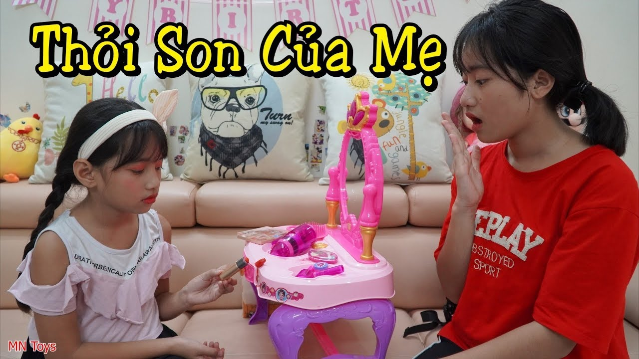 Thùy Giang Làm Gãy Thỏi Son Mới Của Mẹ - Dạy Trẻ Tính Trung Thực - MN Toys