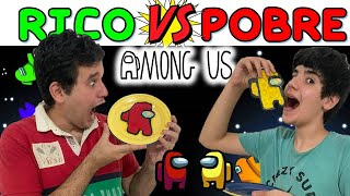 AMONG US NA VIDA REAL 5 | RICO VS POBRE  (pancake art) | PEDRO MAIA