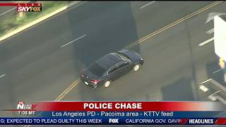 POLICE PURSUIT: LAPD chase a possible gang member in a presumed stolen vehicle
