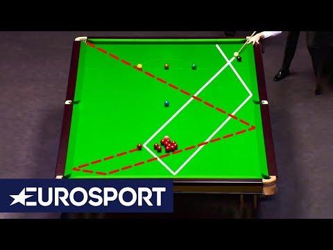 Crazy Fluke Exchange Between Mark Selby And Ali Carter | London Masters 2020 | Snooker | Eurosport
