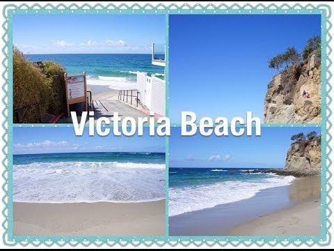 Beautiful & Relax Victoria Beach | Laguna Beach | Ocean Waves Sound + Music Relaxation Video