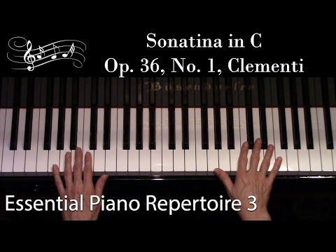 Sonatina in C, Op. 36, No. 1, Clementi (Intermediate Piano Solo) Essential Piano Repertoire Level 3