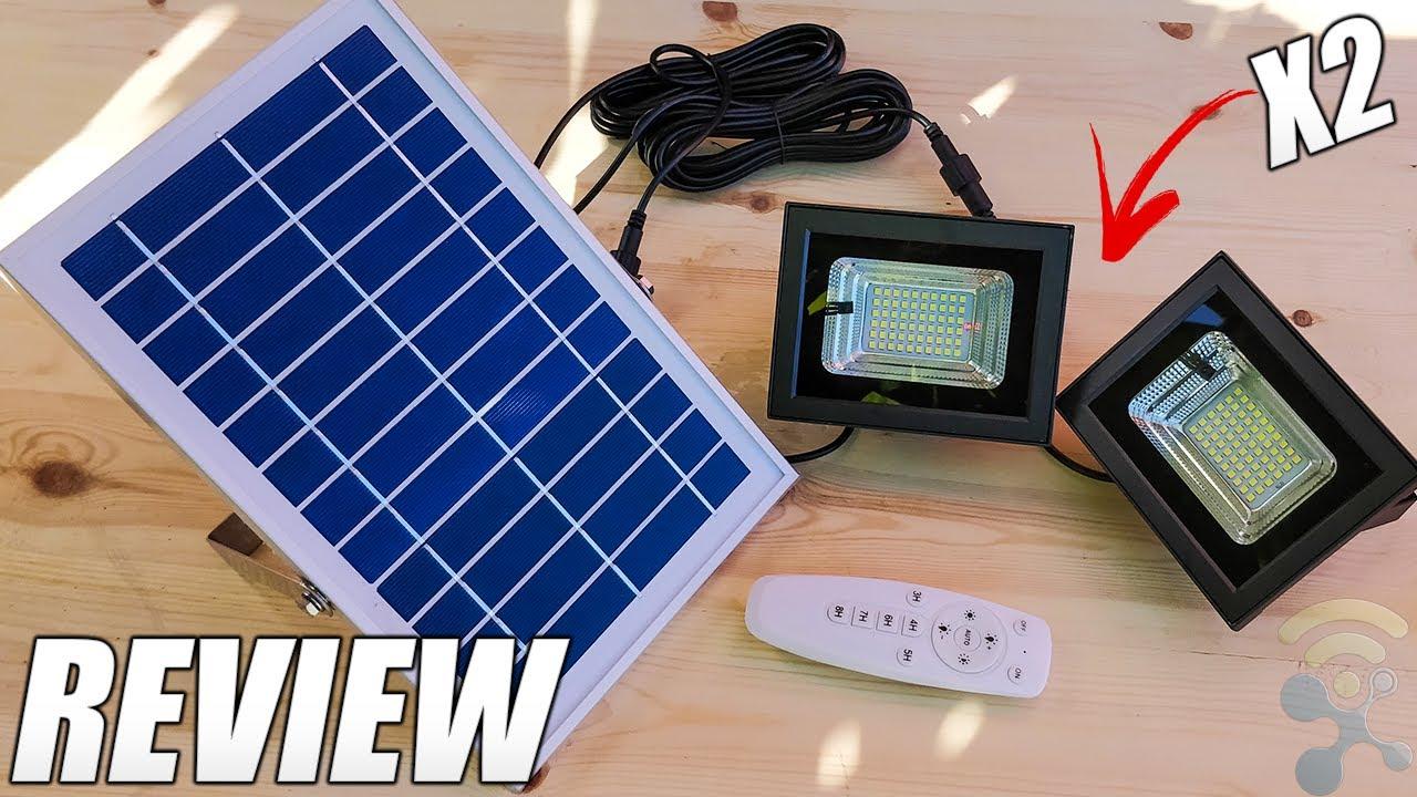Uponun Solar Flood Light Outdoor & Indoor Waterproof Review