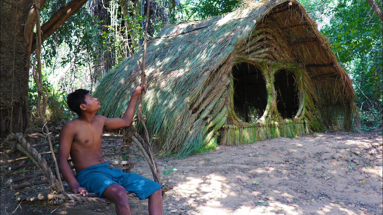 Primitive Tool : Build grass house and ​hammock