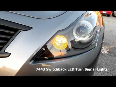 Infiniti G37 7443 Switchback LED Bulbs For Turn Signal Lights