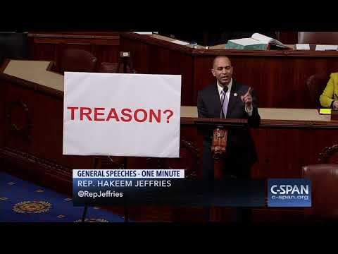 "Rep. Jeffries (D-NY): ""How dare you lecture us about treason."" (C-SPAN)"
