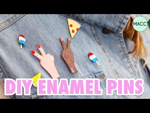"DIY ""Enamel"" Pins // Peace, Pizza, & Popsicle Jewelry"