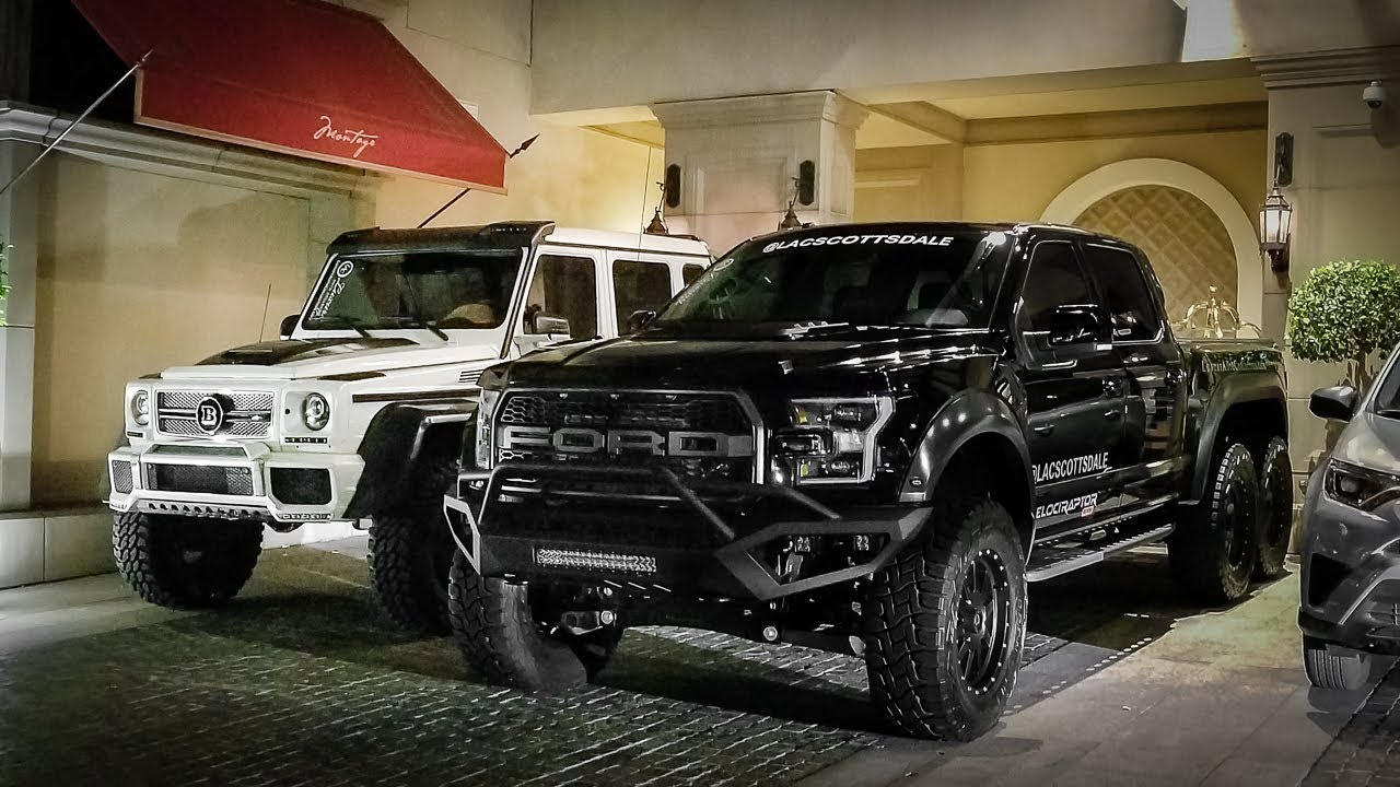 Mercedes 6x6 >> The 370 000 Hennessey Truck Is Larger Than A Mercedes 6x6 Youtube