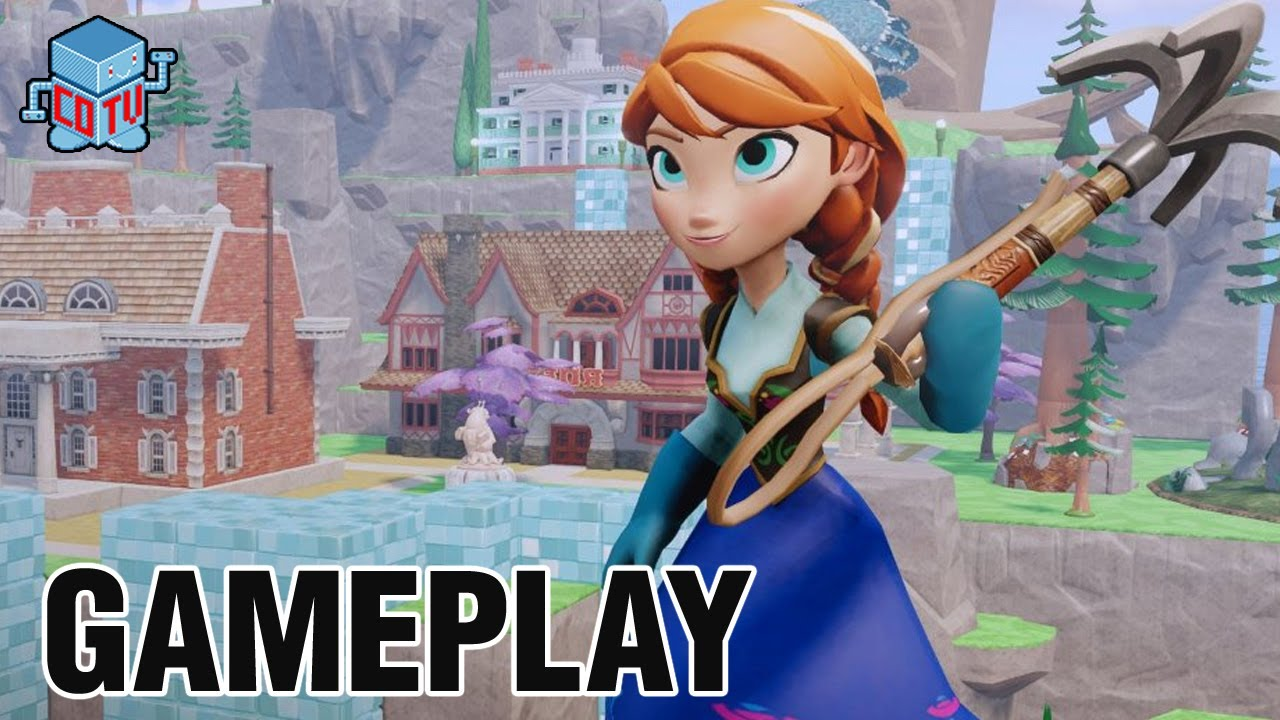 Disney Infinity Frozen Anna Gameplay Commentary Youtube