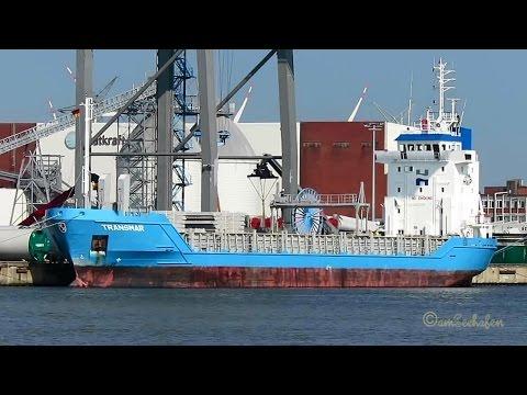 coaster TRANSMAR 5BDN4 IMO 9167332 Emden cargo seaship merchant vessel KüMo Frachtschiff
