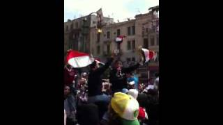 April 8 tahrir protest celebration Thumbnail