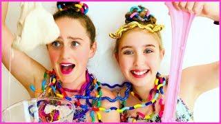 SLIME CHALLENGE - Tangle Tongue Twister Challenge!   Millie and Chloe