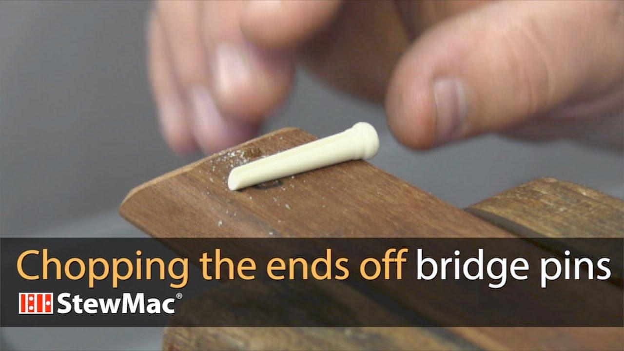 Chopping the ends off bridge pins | stewmac com