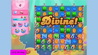 Candy Crush Saga Level 3825 6 move bombs NO BOOSTERS