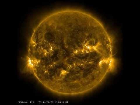 The Sun in September 2014, SDO (Solar Dynamic Observatory)