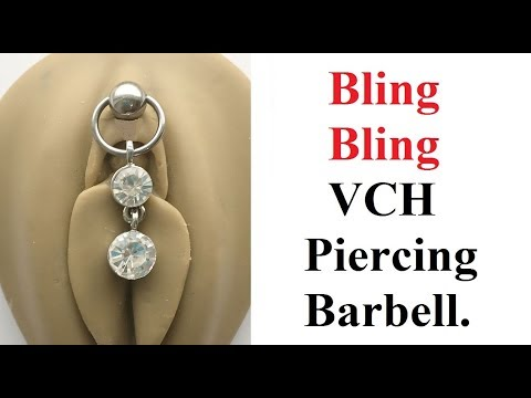 BLING BLING VCH Piercing Barbell with Heavy Ball for EXTRA PRESSURE.