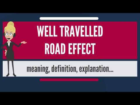 What is WELL TRAVELED ROAD EFFECT? What does WELL TRAVELLED ROAD EFFECT mean?