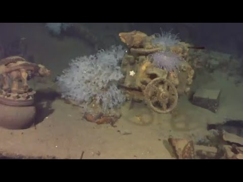 Long lost WWII battleship wreck discovered underwater