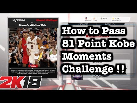 NBA 2K18 AMETHYST Kobe Bryant Moments Challenge Tips. How to do 81 Points Kobe Challenge #70