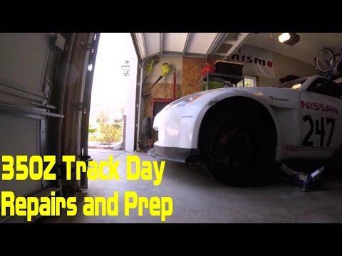Nissan 350Z Racecar Track Damage Repairs and Prep