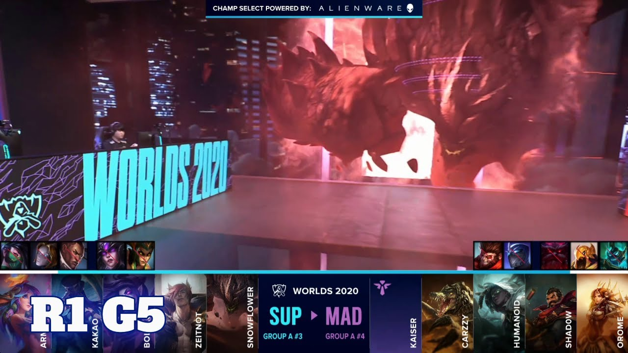 Download SUP vs MAD - Game 5 | Round 1 Play-Ins S10 LoL Worlds 2020 | SuperMassive vs Mad Lions G5