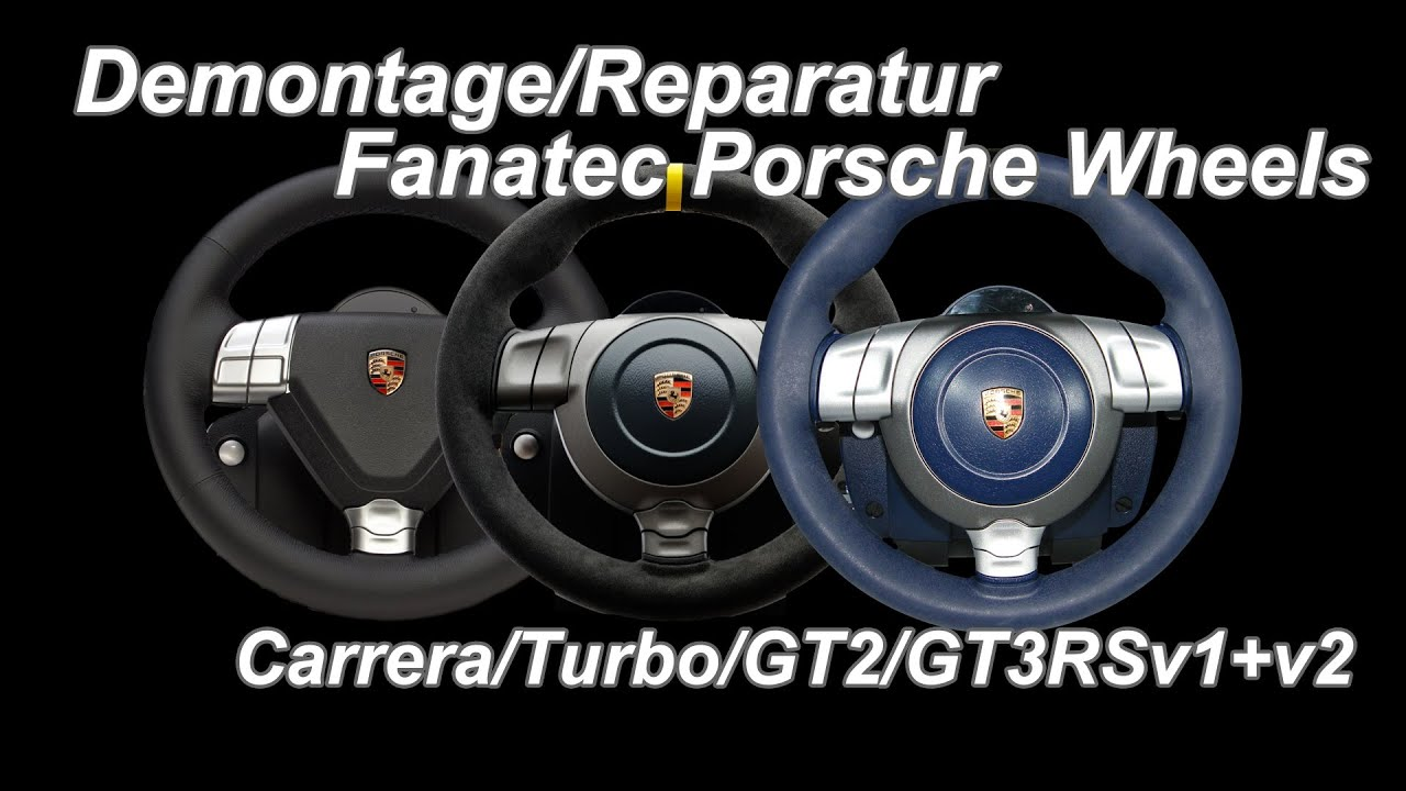 fanatec porsche wheels demontage reparatur gt3rs gt2. Black Bedroom Furniture Sets. Home Design Ideas