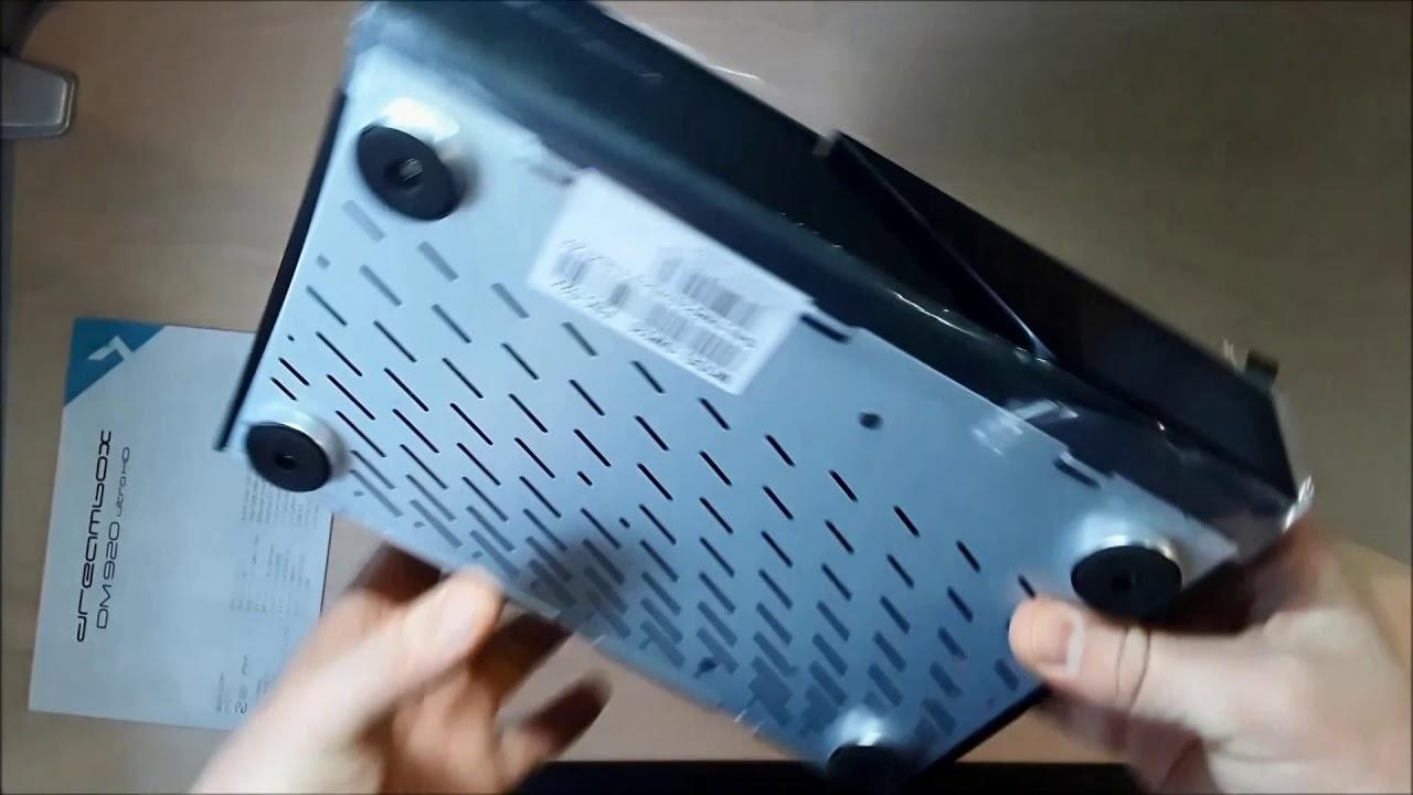 Dreambox DM920 UHD - распаковка