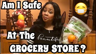 HOW TO GROCERY SHOP SAFELY | IS IT SAFE TO SHOP FOR FOOD NOW? 🛒😷🥬🍎🍋🍇