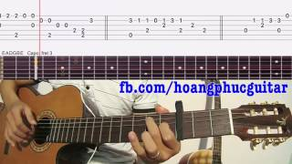 [Guitar] Mariage D'Amour (Richard Clayderman) Tab guitar vs THẾ TAY