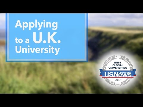 Applying to U.K. Universities