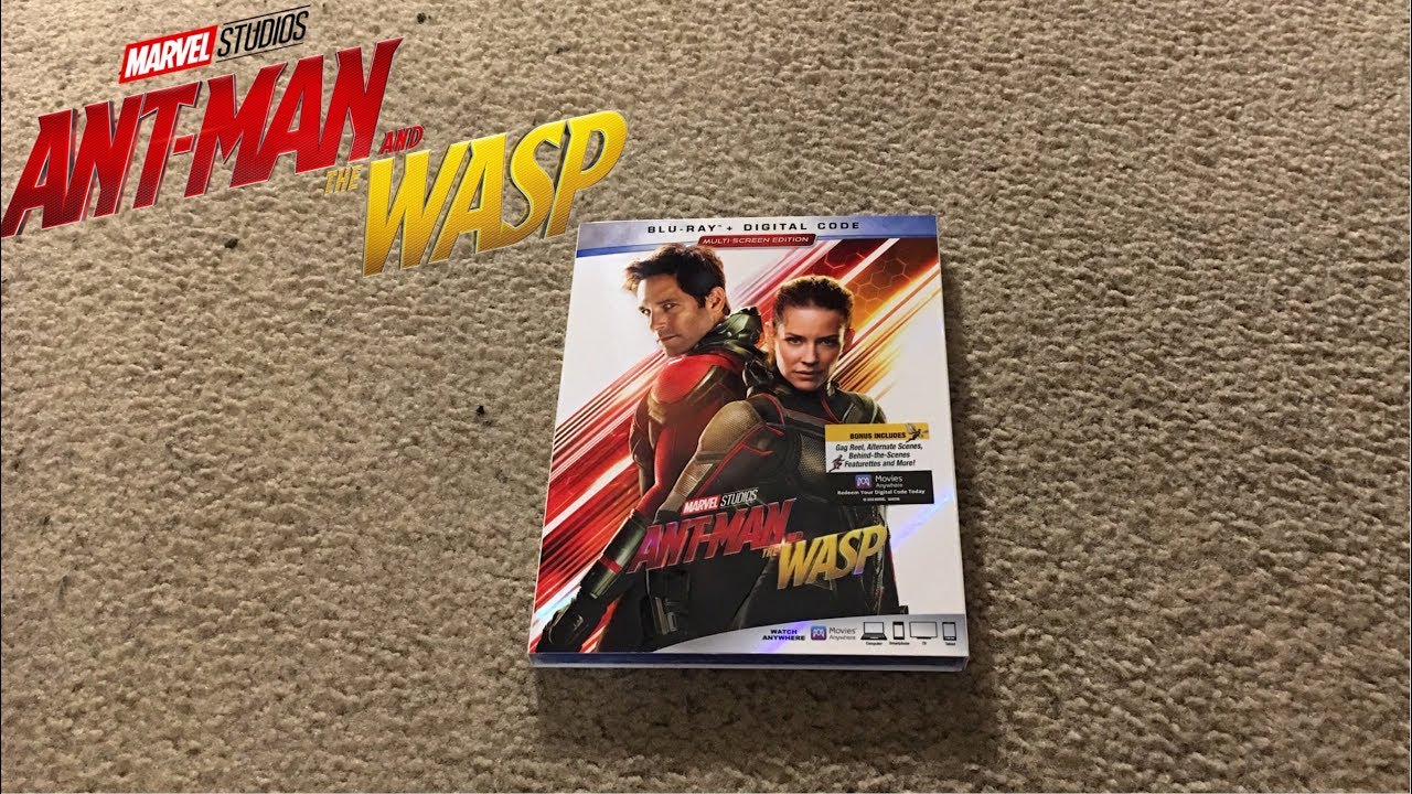 Download Ant-Man and The Wasp Blu-Ray Unboxing