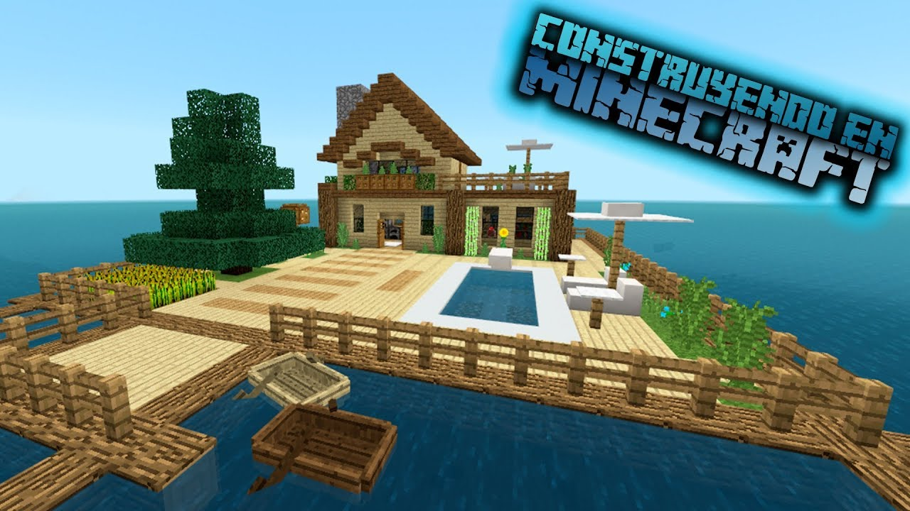 como hacer una casa moderna en minecraft tutorial