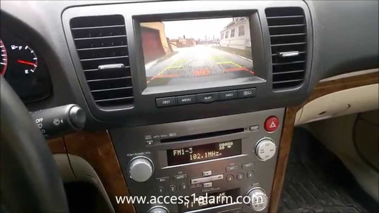 2008 Subaru Legacy Backup Camera Integration Youtube