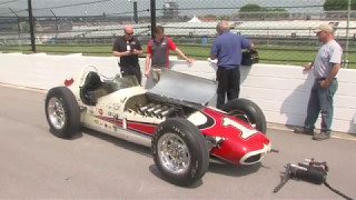 Tony Stewart drives AJ Foyt's 1961 Indy 500 Winning Car