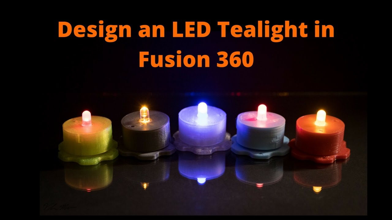 Design an LED Tealight in Fusion 360