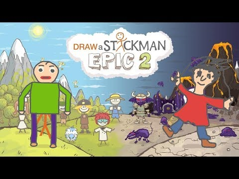 Baldi's Basics in Education and Learning Draw a Stickman Epic 2 Gameplay - Baldi and Playtime
