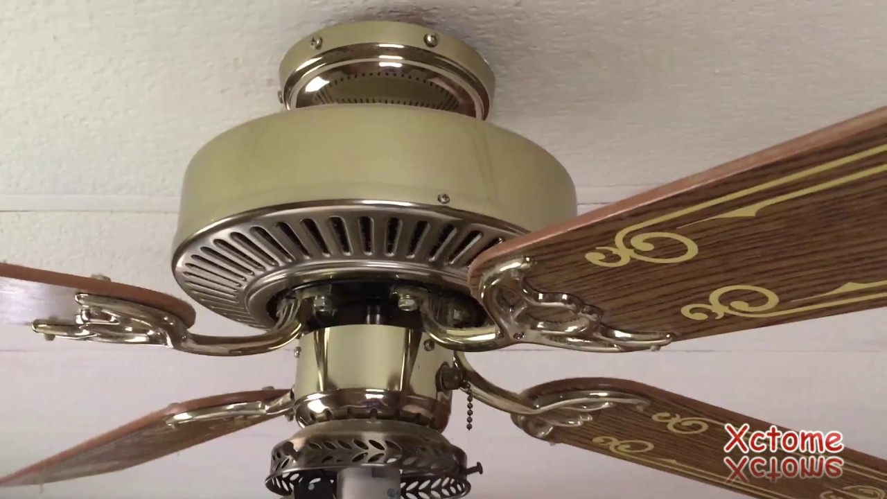 2 vintage ceiling fans from 1981 - YouTube